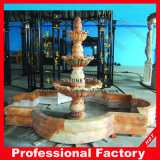 Factory Directly Red Marble Water Fountain for Garden