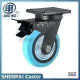 "5""Iron Core Blue Nylon Swivel Locking Caster Wheel"