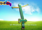 Green color arrow inflatable sky Dancer for events