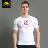 New Casual Tops Tight Shirt Fitness Clothing for Men