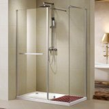 Chrome Al Profile Walk-in Shower Door with Tempered Clear Glass (K-W03)
