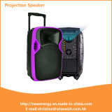 Manufacturer Cheap Multi-Functional Battery Active Portable LED Projection Speaker