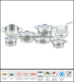 15PCS Decal Stainless Steel Cookware Set