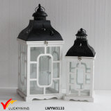 White Rustic Decoration Antique Vintage Handmade Table Wedding Wooden Lantern
