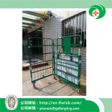 Folding Metal Storage Cage Trolley for Warehouse with Ce