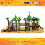 Big Outdoor Playground Set with Challenging Net Climbers
