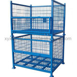 Warehouse Storage Folding Stackable Steel Wire Mesh Metal Container Bin