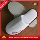 Custom Logo White Hotel Disposable Slippers