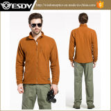 Esdy Lightweight Combat Windproof Breathable Tactical Grid Fleece Coat
