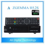100% Official Softwares Zgemma H5.2s Linux OS Enigma2 DVB-S2+S2 Twin Tuners with Hevc/H. 265