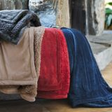 Factory Hot Sales Micro Mink Cozy Sherpa Blanket