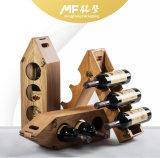 Retro Functional Decorative Bamboo-Plastic Wine Display Rack Box
