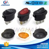 High Quality Kcd1-311 Oval Rocker Switch with Light/Without Lamp T85