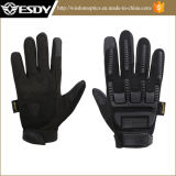 Black Military Shooting Cycling Biking Full Finger Protective Silicone Gloves