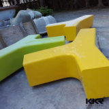 Shopping Mall Solid Surface Airport Rest Stool