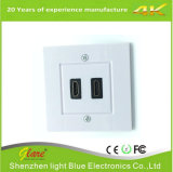 UK Type 2 Port HDMI Connector Wall Plate
