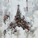 Acrylic Canvas Craft Oil Painting with Eiffel Tower