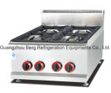 Commercial Fast Food Restaurant Counter Top Gas Stove