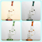 The Different Color Microscope Glass Smoking Water Pipe with Rocket Bubbler