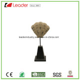 Polyresin Decorative Shell Figurine with a Black Base for Home Decoration