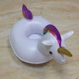 PVC Unicorn Inflatable Drink Holder Floating for Swimming Poor