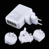 2.1A 4 USB Port Universal Travel Wall Charger Au EU UK Plug AC Adapter for iPad iPhone
