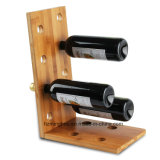 New Latest Nature Duo-Shape Tabletop Wooden Wine Rack