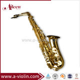 High F# Golden Lacquered Student Model Saxophone (SP1001G)