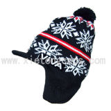 Knitted Hat with Ear Flap, Winter Warm Hat (JRK086)
