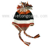 Knitted Hat with Ear Flaps (JRK115)