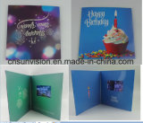 "Customized 4.3""LCD Player Musical Birthday Gift Card"
