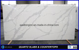 White Calacatta Artificial Quartz Stone Slab for Kitchen Countertop