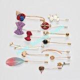 Gold Plug Lapel Stick Hat Prom Corsage Wedding Pin Brooch