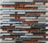 Strip Glass Mix Stainless Steel Mosaic (CFM876)