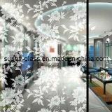 Acid Etched Glass, Frosted Designed, Without Fingerprint Mark, Obscure, Smoked and Satin