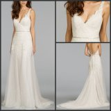 Lace Tulle Bridal Wedding Gowns Long Beach Wedding Dress Wdo69