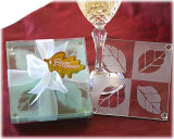 Maple Leaf Glass Wedding Coaster