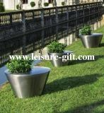 Outdoor Decor Stainless Steel Floral Planter (FO-9026)