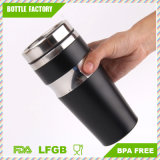 Stainless Steel Travel Mug Vacuum Flask, Flip Top Sipper Lid