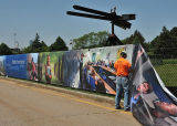 Wholesale Outdoor Large Format Construction Site Hoarding Poster Banners