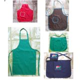 Promotional Cotton Polyester Kitchen Cooking Apron with Customized Embroidery Logo