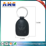 Customized Cmyk Printing Leather RFID Keychain Tag Access Control