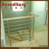 Stainless Steel Rod Balustrade with Wood Handrail in Stair Parts (SJ-X1014)