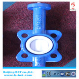 Wafer Type PTFE Seaing Butterfly Valve with Handle DIN, En, ANSI Standard Bct-F4bfv-15