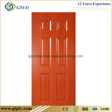 3mm Melamine Moulded HDF Skin Door for Interior Doors