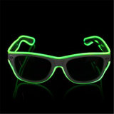 Electroluminescence EL LED Sunglasses for Party
