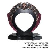 Zombie Skull Head Fantasy Knife Table Decoration 19*18cm