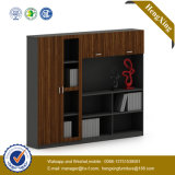 Glass Wooden Door Alumnium Bookshelf Storage Bookcase Filing Cabinet (UL-ND249)