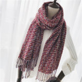 Women′s Cashmere Like Classic Checked Knitted Winter Printing Shawl Scarf (SP306)