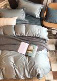 Plain Color 4PCS 100%Cotton Bedding Set (Steel Gray)